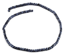 Load image into Gallery viewer, 4x4mm Navy Blue Square Faceted Crystal Beads