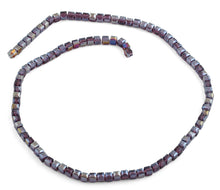 Load image into Gallery viewer, 4x4mm Purple Square Faceted Crystal Beads