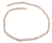 Load image into Gallery viewer, 4x4mm Vintage Pink Square Faceted Crystal Beads