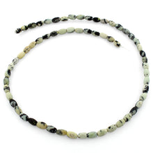 Load image into Gallery viewer, 4x6mm White Turquoise Jasper Plain Melon Gem Stone Beads