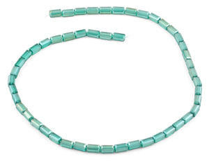 4x8mm Emerald Rectangle Faceted Crystal Beads