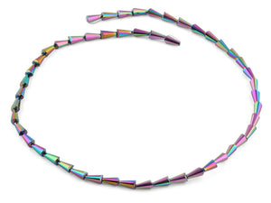 4x8mm Rainbow Cone Faceted Crystal Beads