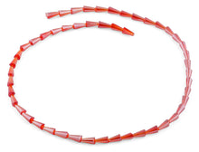 Load image into Gallery viewer, 4x8mm Red Cone Faceted Crystal Beads