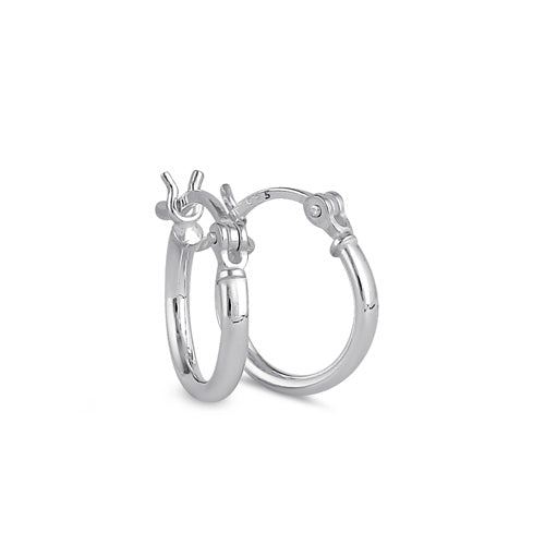 Sterling Silver 2.0MM x 15MM Hoop Earrings