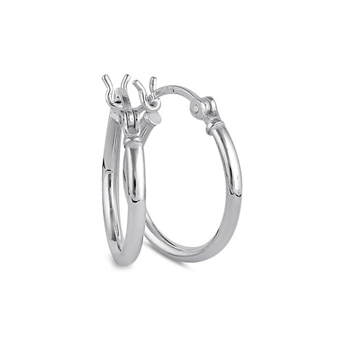Sterling Silver 2.0MM x 20MM Hoop Earrings