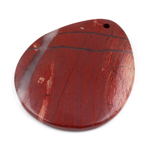 50X40MM Red Jasper Drop Gem Stone Pendant