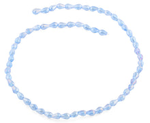 Load image into Gallery viewer, 5x7mm Blue Drop Faceted Crystal Beads