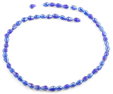 Load image into Gallery viewer, 5x7mm Navy Blue Drop Faceted Crystal Beads