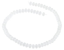 Load image into Gallery viewer, 6-8mm Clear Faceted Rondelle Crystal Beads