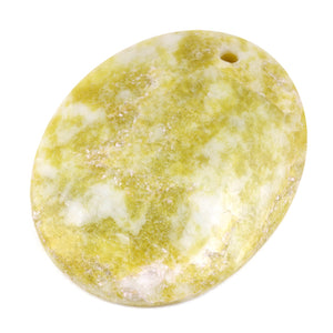 60X45MM Lemon Oval Gem Stone Pendant