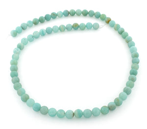 6mm Amazonite Gem Stone Beads