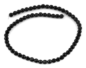6mm Black Agate Faceted Gem Stone Beads