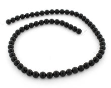 Load image into Gallery viewer, 6mm Black Agate Round Gem Stone Beads