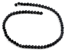 Load image into Gallery viewer, 6mm Black Twist Faceted Crystal Beads