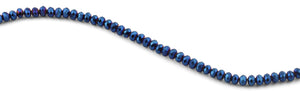 6mm Blue Faceted Rondelle Crystal Beads