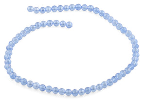 6mm Blue Round Faceted Crystal Beads
