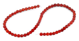 6mm Carnelian Faceted Gem Stone Beads