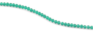6mm Dark Green Faceted Round Crystal Beads