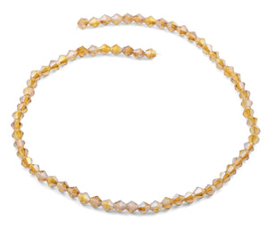 6mm Faceted Bicone Topaz Crystal Beads