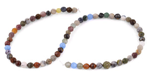 6mm Faceted Multi-Stones Gem Stone Beads