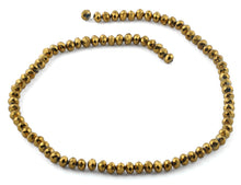 Load image into Gallery viewer, 6mm Gold Faceted Rondelle Crystal Beads