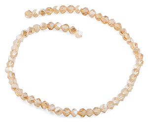 6mm Gold Twist Faceted Crystal Beads