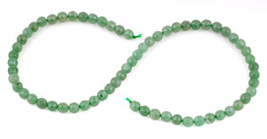 6mm Green Aventurine Faceted Gem Stone Beads