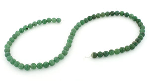6mm Green Aventurine Round Gem Stone Beads