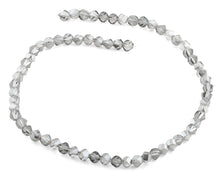 Load image into Gallery viewer, 6mm Grey Twist Faceted Crystal Beads