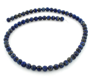 6mm Lapis Lazuri Round Gem Stone Beads