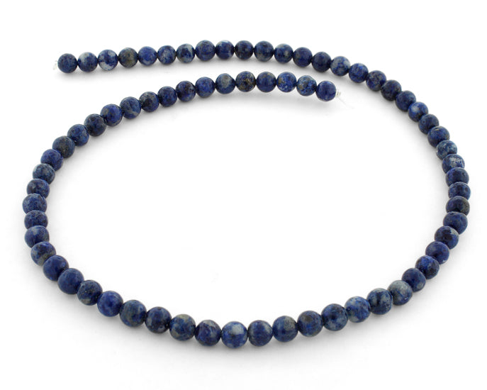 6mm Lapis Round Gem Stone Beads