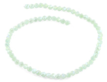 Load image into Gallery viewer, 6mm Light Green Twist Faceted Crystal Beads