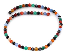 Load image into Gallery viewer, 6mm Multi-Color Agate Faceted Gem Stone Beads