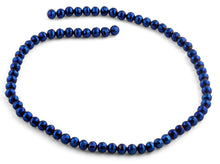 Load image into Gallery viewer, 6mm Navy Blue Round Faceted Crystal Beads