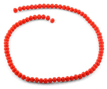 Load image into Gallery viewer, 6mm Orange Faceted Rondelle Crystal Beads