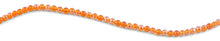 Load image into Gallery viewer, 6mm Orange Round Faceted Crystal Beads