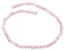 Load image into Gallery viewer, 6mm Pink Twist Faceted Crystal Beads