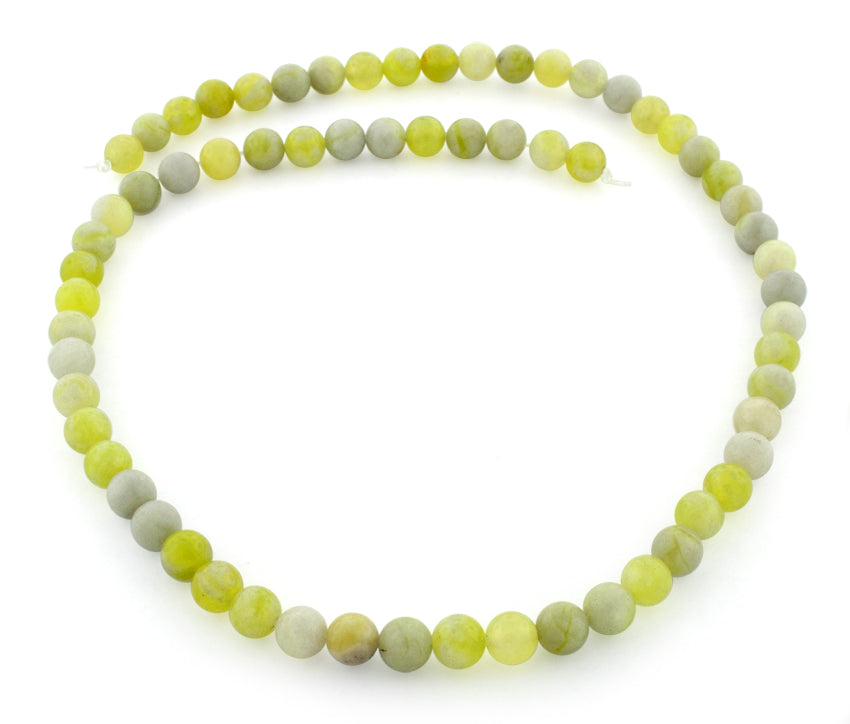 6mm Plain Round Harmony Serpentine Gem Stone Beads