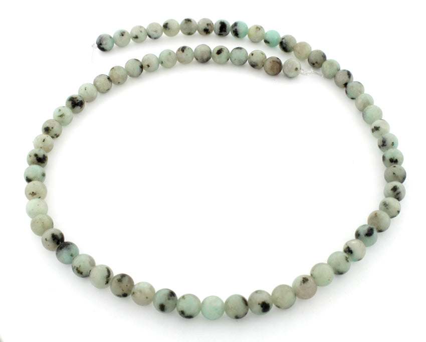 6mm Plain Round Sesame Jasper beads