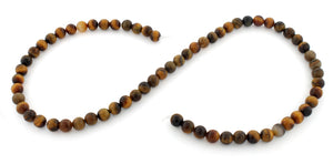 6mm Plain Round Tigereye Gem Stone Beads