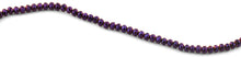 Load image into Gallery viewer, 6mm Purple Faceted Rondelle Crystal Beads