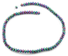 Load image into Gallery viewer, 6mm Rainbow Topaz Faceted Rondelle Crystal Beads