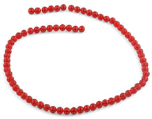 Load image into Gallery viewer, 6mm Red Faceted Round Crystal Beads