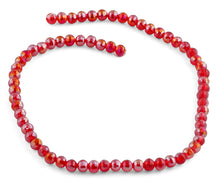 Load image into Gallery viewer, 6mm Red Round Faceted Crystal Beads