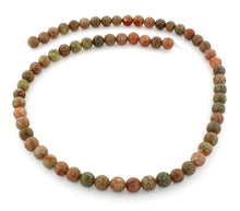 Load image into Gallery viewer, 6mm Round Autumn Jasper Gem Stone Beads