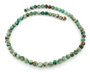 6mm Round Green Turquoise Gem Stone Beads