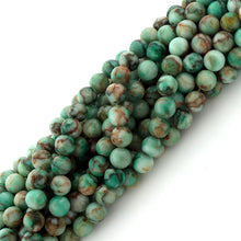 Load image into Gallery viewer, 6mm Round Green Turquoise Gem Stone Beads