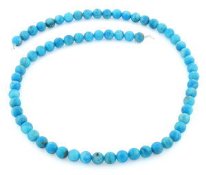 6mm Round Howlite Dyed Turquoise Gem Stone Beads