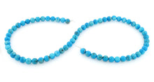 Load image into Gallery viewer, 6mm Round Howlite Dyed Turquoise Gem Stone Beads