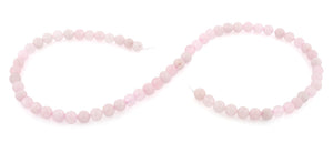 6mm Round Rose Quartz Gem Stone Beads